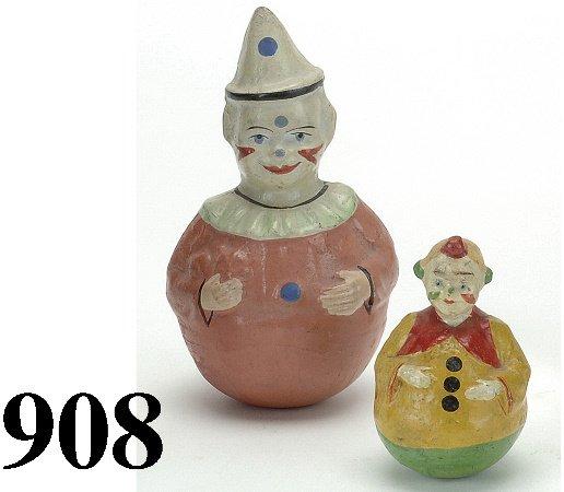 908: Lot: 2 Clown Roly Polys