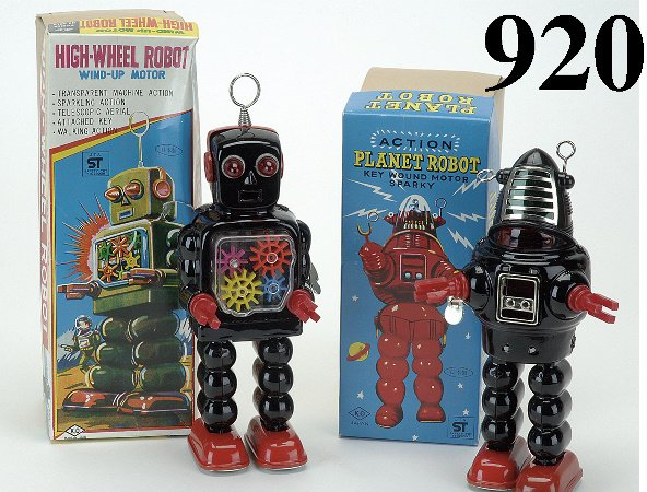 920: Lot: 2 Robots with Boxes