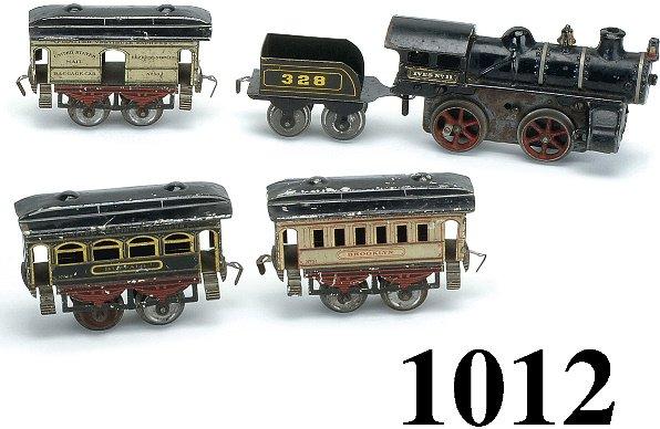 1012: Ives O Gauge Passenger Set