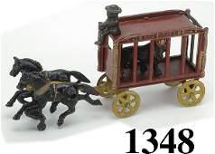 1348: Hubley Royal Circus Cage Wagon - small size