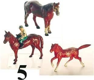 Lot: 3 Hubley Horses