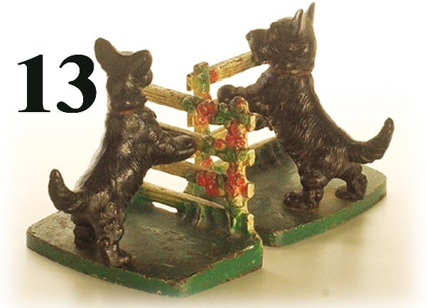 13: Hubley Book Ends-Scotty at Fence