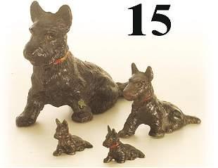 Lot: 4 Hubley Scotty Dogs