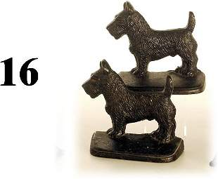 Hubley Book Ends-Scotty Dogs