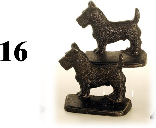 16: Hubley Book Ends-Scotty Dogs
