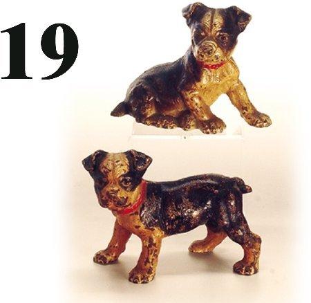 19: Hubley Book Ends-Boston Bull Pups