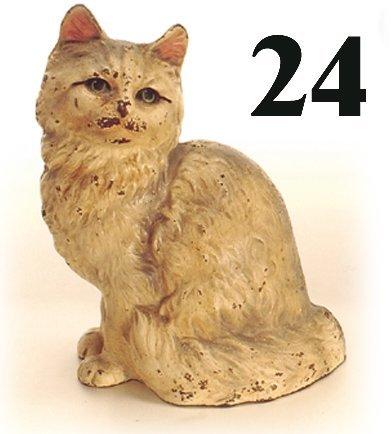 24: Hubley Door Stop-Persian Cat