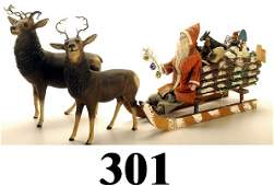 301: Large Sleigh with Santa pulled by 2 Rain