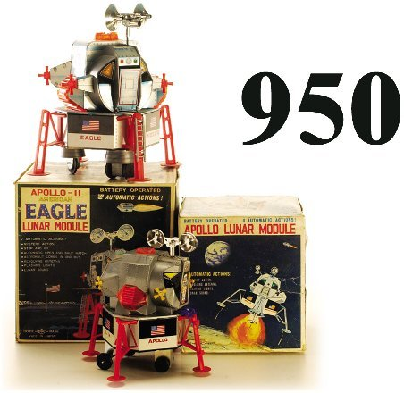 950: Lot: 2 Apollo Lunar Landers