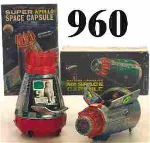 Lot: 2 S.H. Space Capsules