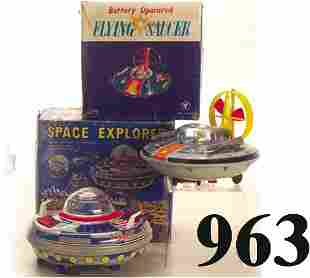 Lot: Space Explorer & Y Flying Saucer wi