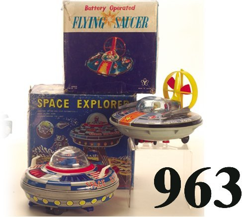963: Lot: Space Explorer & Y Flying Saucer wi