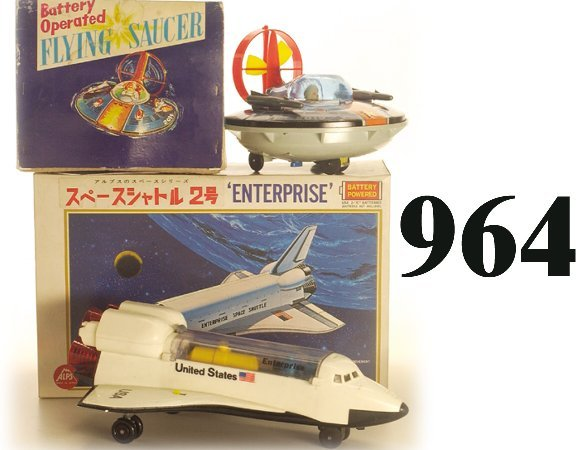 964: Lot: Alps Enterprise & Y Flying Saucer w