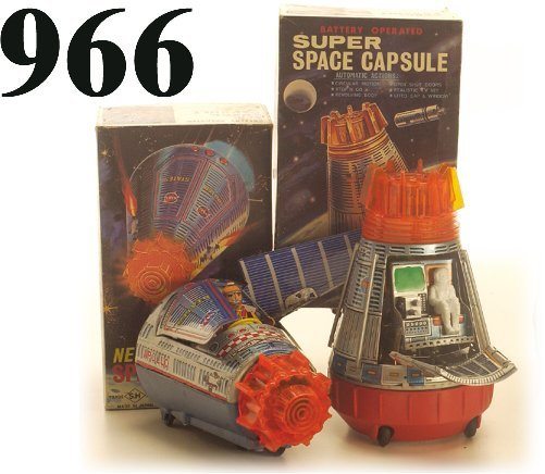 966: Lot: New & Super Space Capsules with box