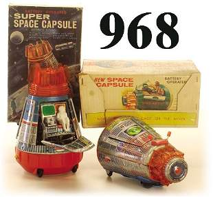 Lot: 2 S.H. Space Capsules with boxes