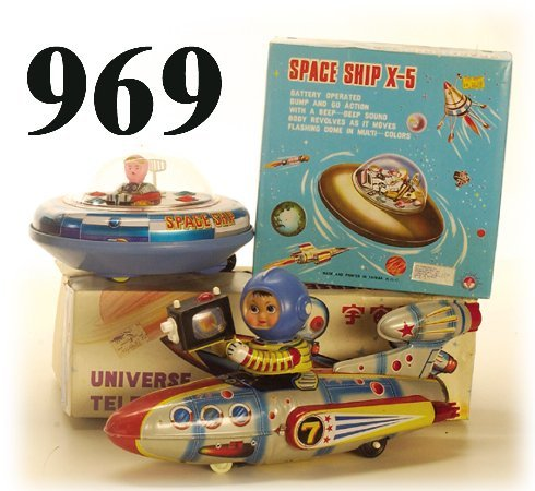 969: Lot: Universe Televiboat & Space Ship X-