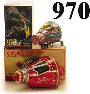 Lot: S.H. Space Capsule & Cragstan Capsu