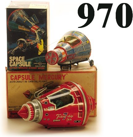 970: Lot: S.H. Space Capsule & Cragstan Capsu