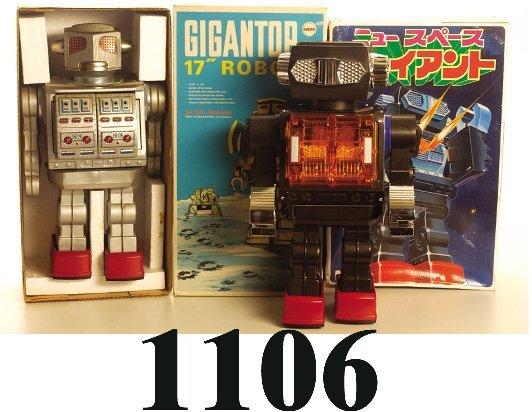 1106: Lot: Giant Robot & Mego Gigantor Robot