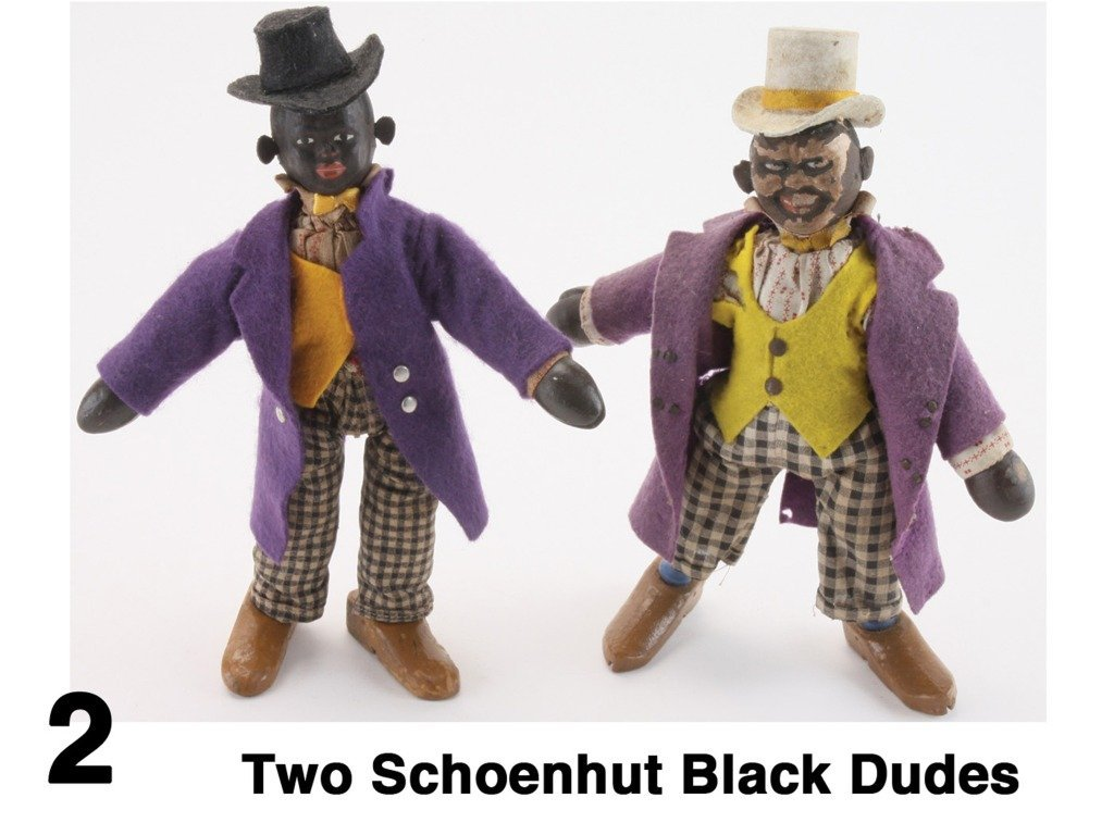 Two Schoenhut Black Dudes