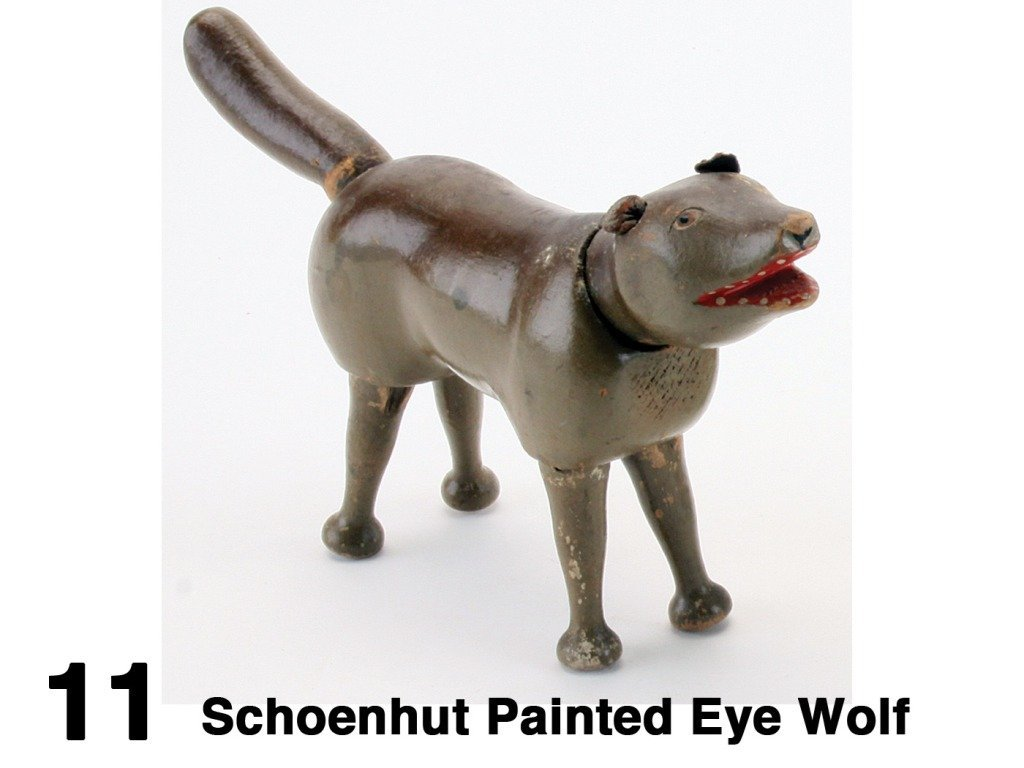 Schoenhut Painted Eye Wolf