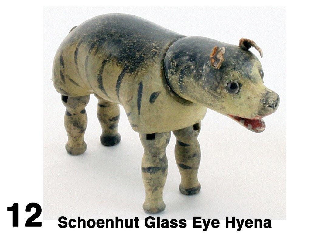Schoenhut Glass Eye Hyena