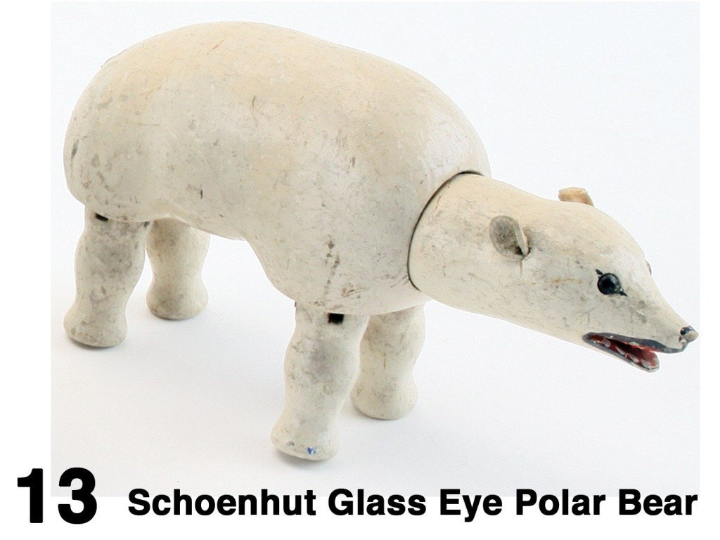 Schoenhut Glass Eye Polar Bear