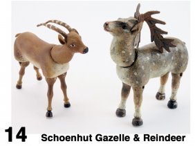 Schoenhut Gazelle & Reindeer