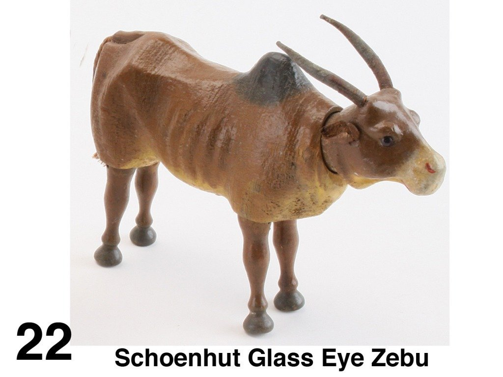 Schoenhut Glass Eye Zebu
