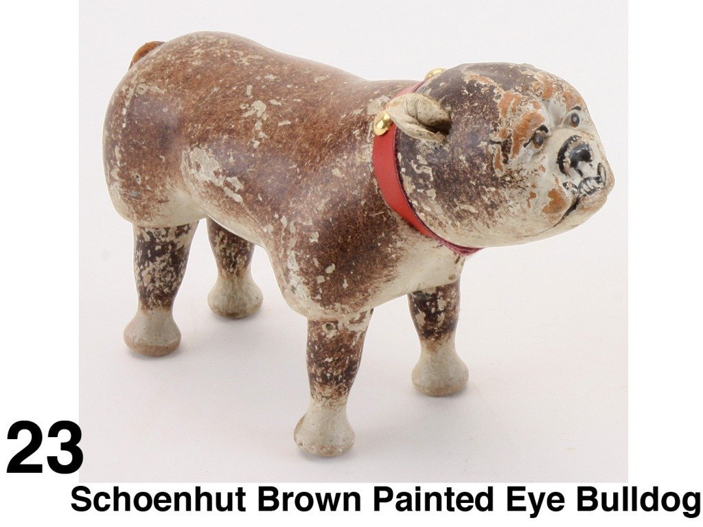 Schoenhut Brown Painted Eye Bulldog