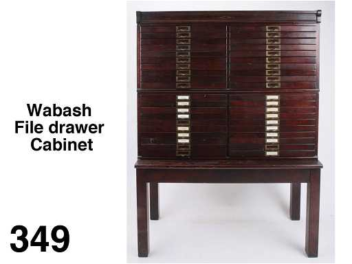 Wabash File Drawer Cabinet See Sold Price