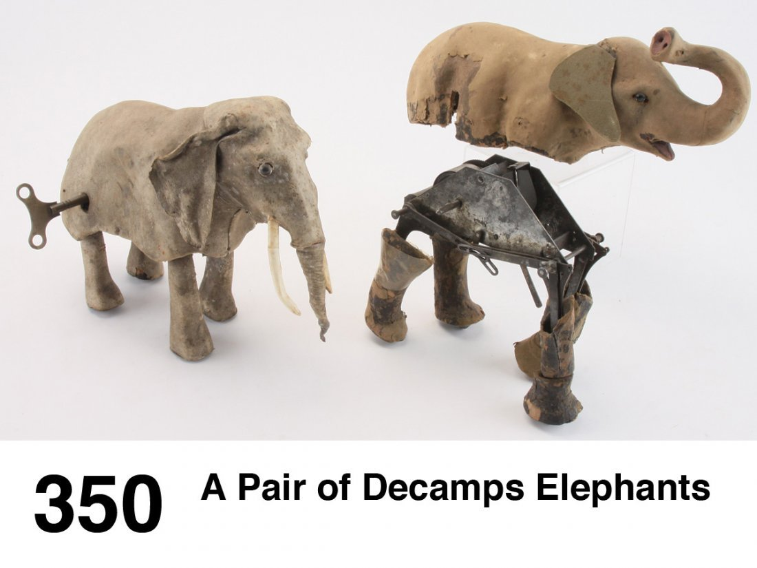 A Pair of Decamps Elephants