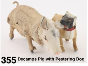 Decamps Pig With Pestering Dog