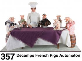 Decamps French Pigs Automaton
