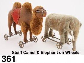 Steiff Camel & Elephant On Wheels