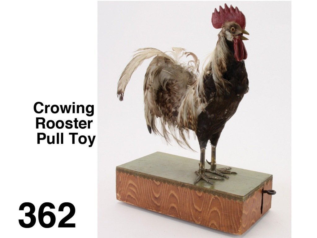 Crowing Rooster Pull Toy