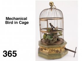 Mechanical Bird in Cage