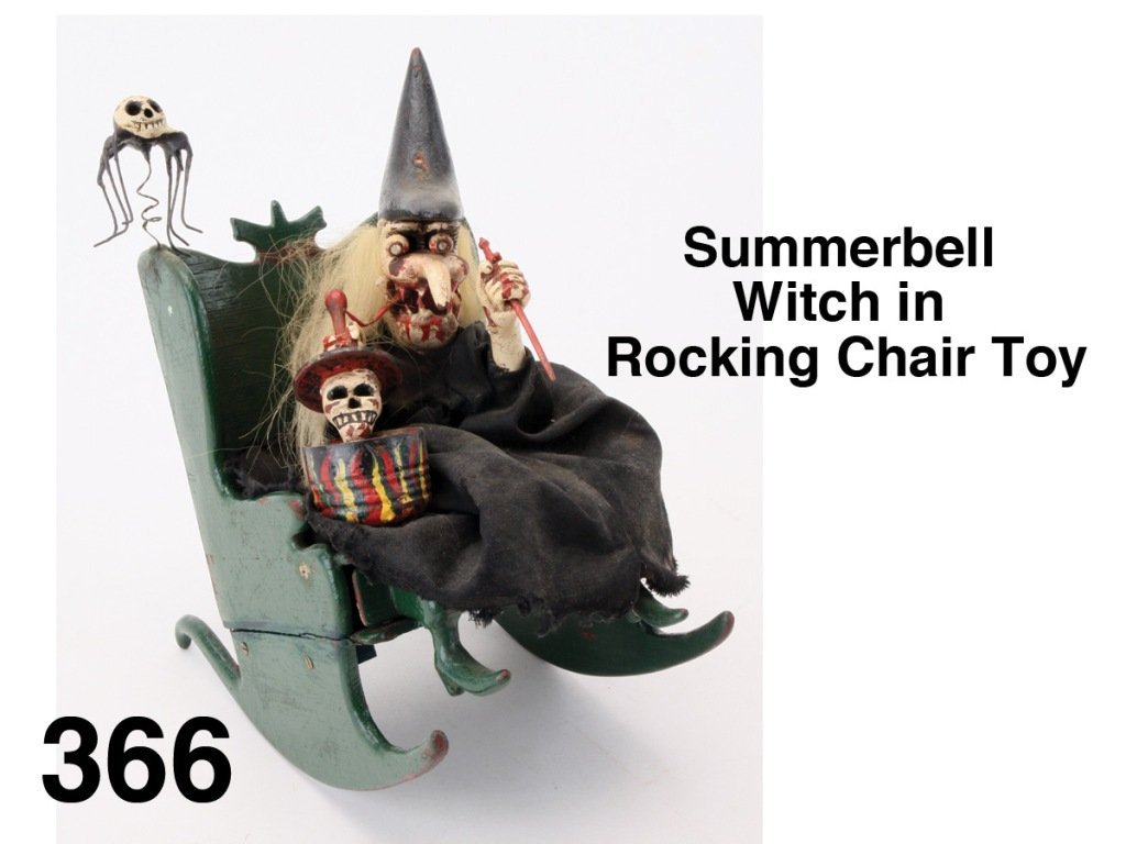 Summerbell Witch in Rocking Chair Toy