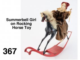 Summerbell Girl on Rocking Horse Toy