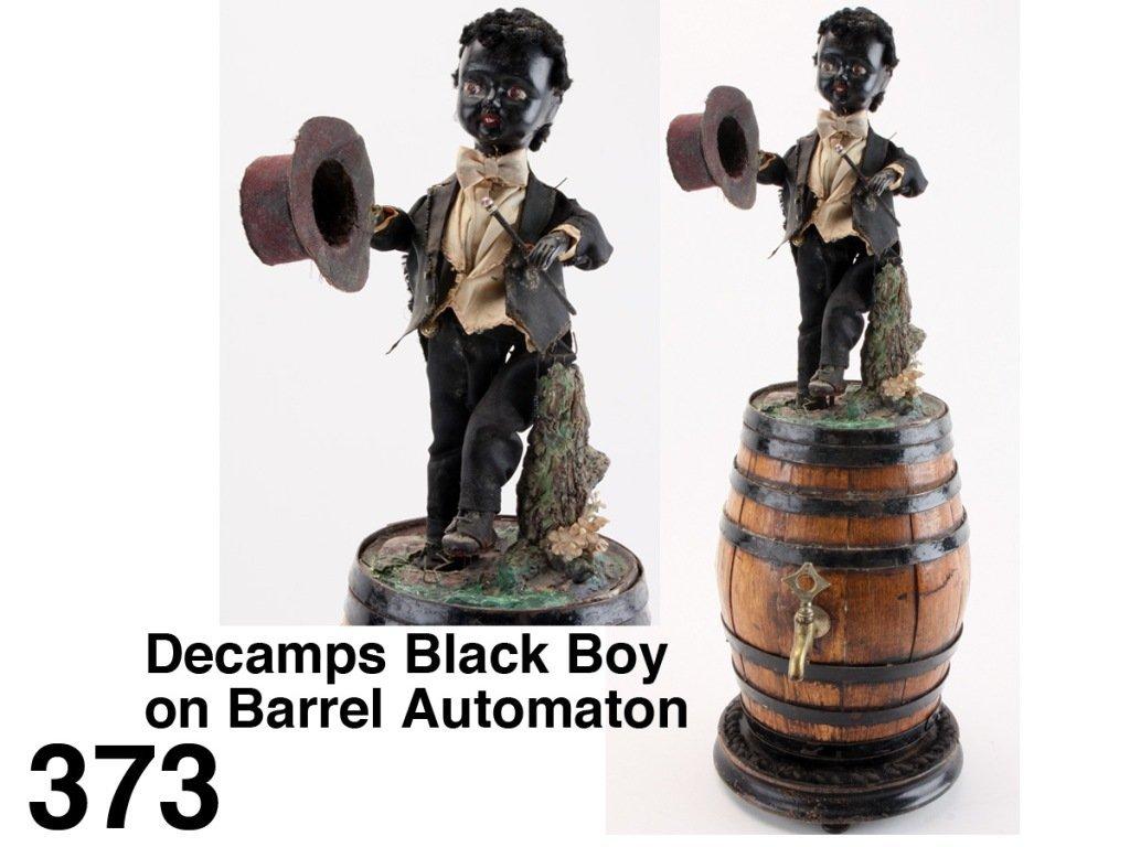 Decamps Black Boy on Barrel Automaton