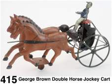 George Brown Double Horse Jockey Cart