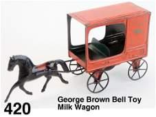 George Brown Bell Toy Milk Wagon