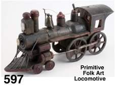 Primitive Folk Art Locomotive
