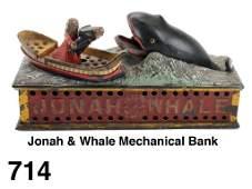 Jonah  Whale Mechanical Bank
