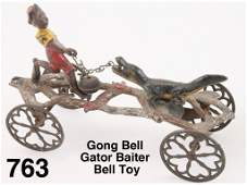 Gong Bell Gator Baiter Bell Toy