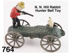 N N Hill Rabbit Hunter Bell Toy