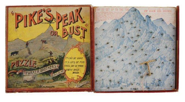 Lot: Pikes Peak Puzzle & Ten Dexterity Puzzles