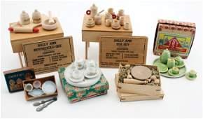 Boxed Wood & China Tea & Household Sets