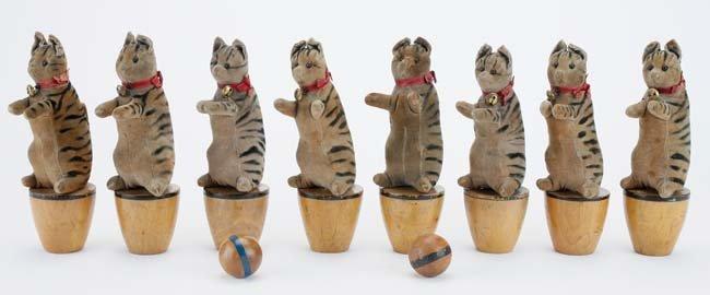 Steiff Cat Skittles - 8 piece set