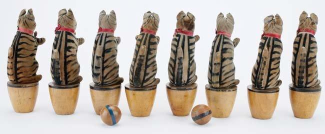 Steiff Cat Skittles - 8 piece set - 2